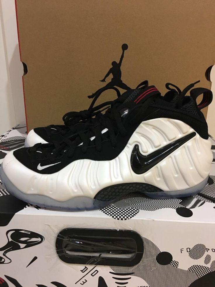Nike Foamposite White/black True Red #Nike #BasketballShoes