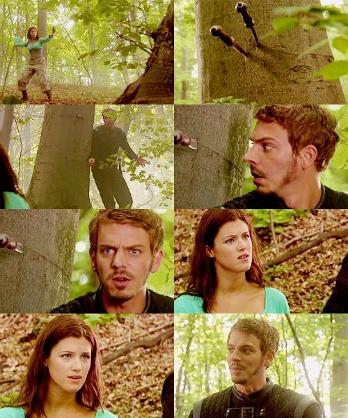 """BBC Robin Hood - """"You could have killed me!"""" """"What are you doing in the forest?!"""" """"Looking for you."""""""