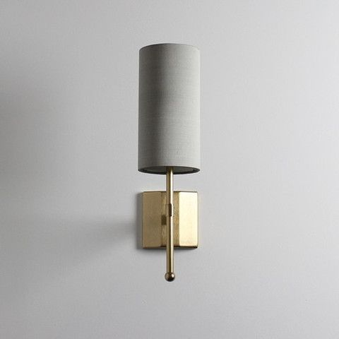 Gold Stem Wall Light by Tigermoth Lighting This shape with a more orchre shade could be good