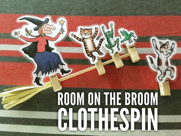 Room on the broom clothespin. Add the characters one by one! Would you like to…