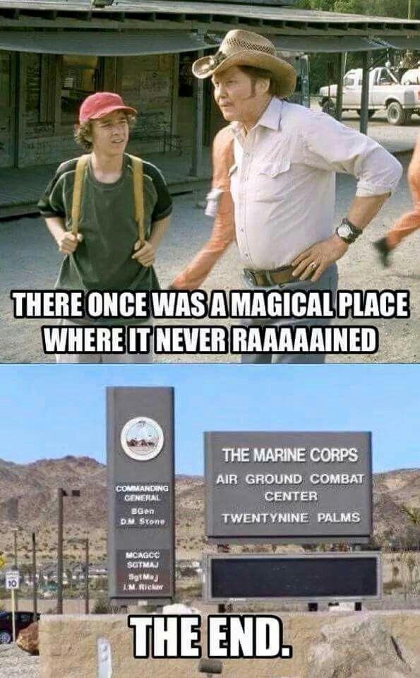 29 Palms. Marine Corps humor