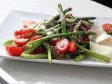 Pan-Roasted Asparagus with Shiitake Mushrooms and Cherry Tomatoes : Recipes : Cooking Channel