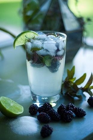 Summer Drink Lime, Mint & Blackberry Water