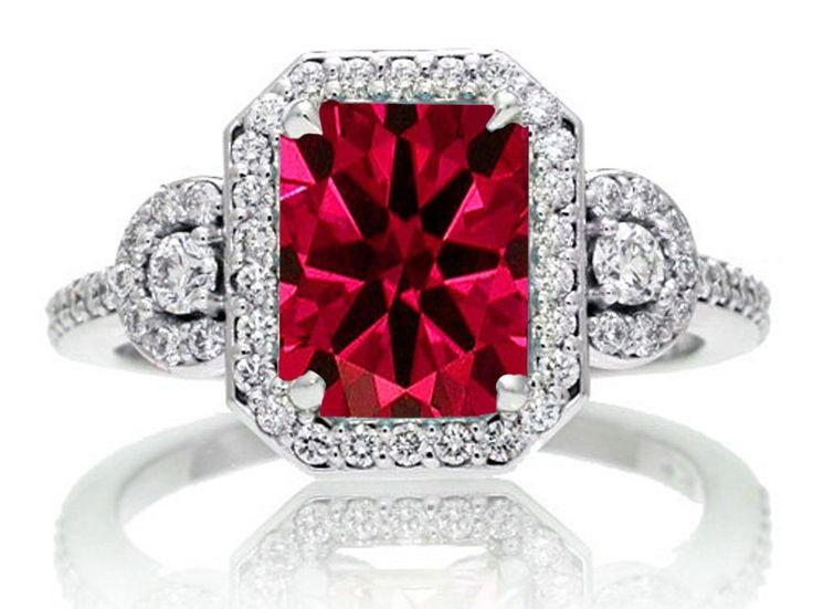 Massive Ruby Wedding Ring