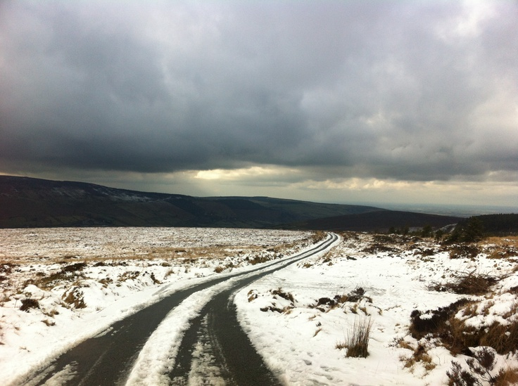 Snow on Dublin mountains