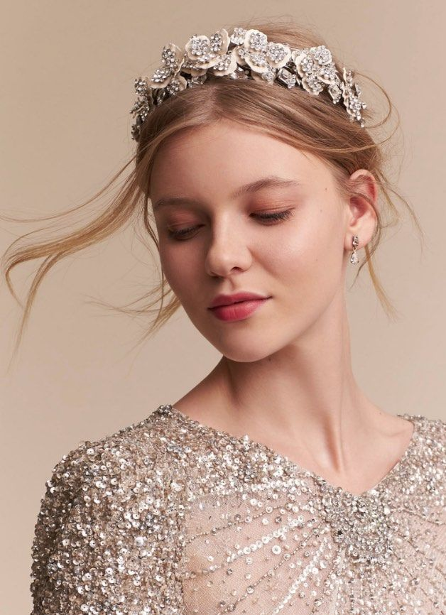 Featured Hair Accessory: Courtesy of BHLDN; www.bhldn.com; Wedding hairstyle ide...