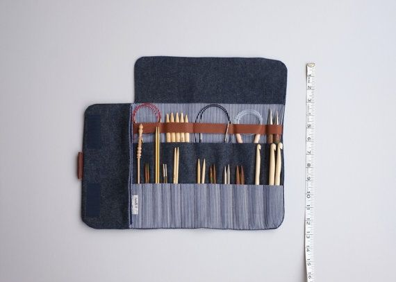 Knitting needle case Needle Organizer Carrying case by OtterburnPQ