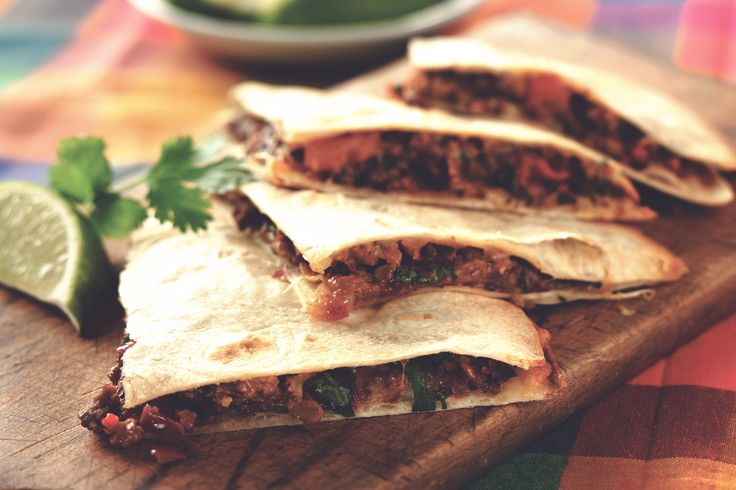 Find a tasty and healthier Mexican Quesadillas recipe made with Quorn Meat Free Chicken Style Tenders. Sort-out your mid-week dinner meals with Quorn.