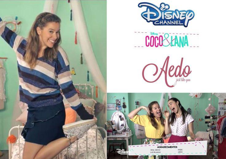 De nuevo Aedo Espadrilles calzando a las chicas del programa de #Coco&Lana de Disney Channel España