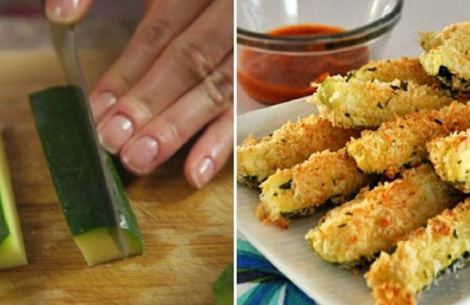 Fantastická jednohubka, ktorá je aj zdravá aj chutne chrumkavá? Neklamme si, do chrumkava upečené a vyprážané jedlá milujeme všetci. Aj takéto jedlo sa dá spraviť na zdravý spôsob ato napríklad tak, že si namiesto zemiačikov, alebo mäsa urobíte zeleninu. Dnes to bude obaľovaná chrumkavá avoňavá cuketka! Budete potrebovať: 1 väčšiu cuketu 250 g kyslej smotany