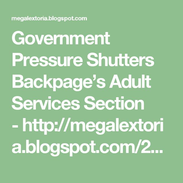 blog backpage shutters adult section