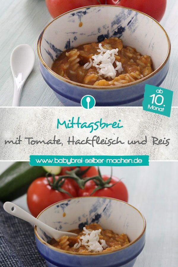 Babybrei mit Tomate, Zucchini und Hackfleisch – Mittagsbrei Rezept – Babybrei-selber-machen.de