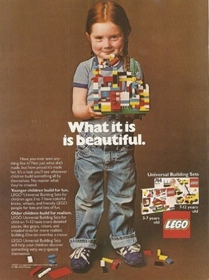 """Gone are the days when there were just Legos, not boy or girl Legos...""""Yes, for about 20 minutes in the 70s we marketed to little girls without aggressively marginalizing it as """"girl stuff."""" It didn't take long for us to get back to the status quo."""""""