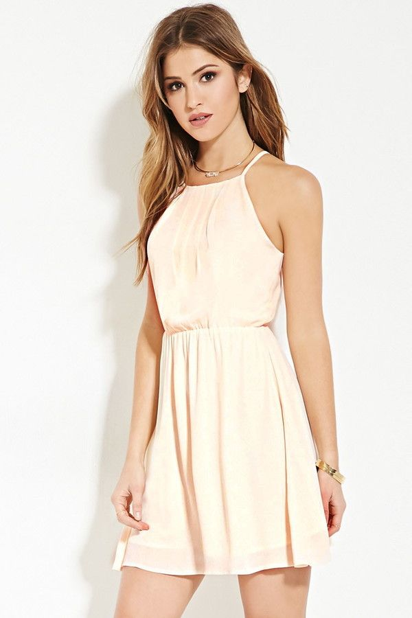 FOREVER 21 pleated cami dress