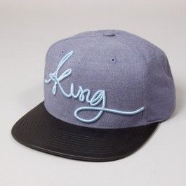 KING APPAREL SIGNATURE SNAPBACK BLUE - Caps. A cap is essential in the sun!