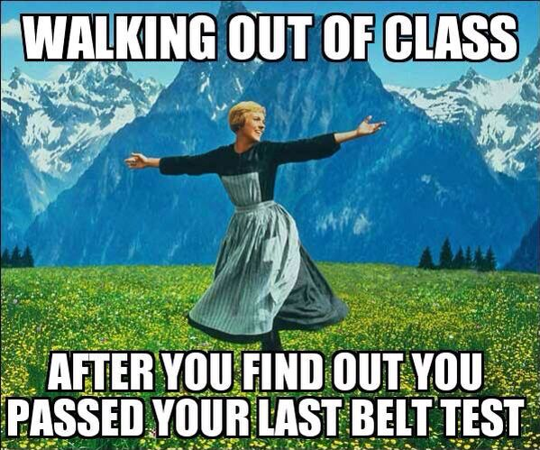 This was me when I got my black belt two weeks ago