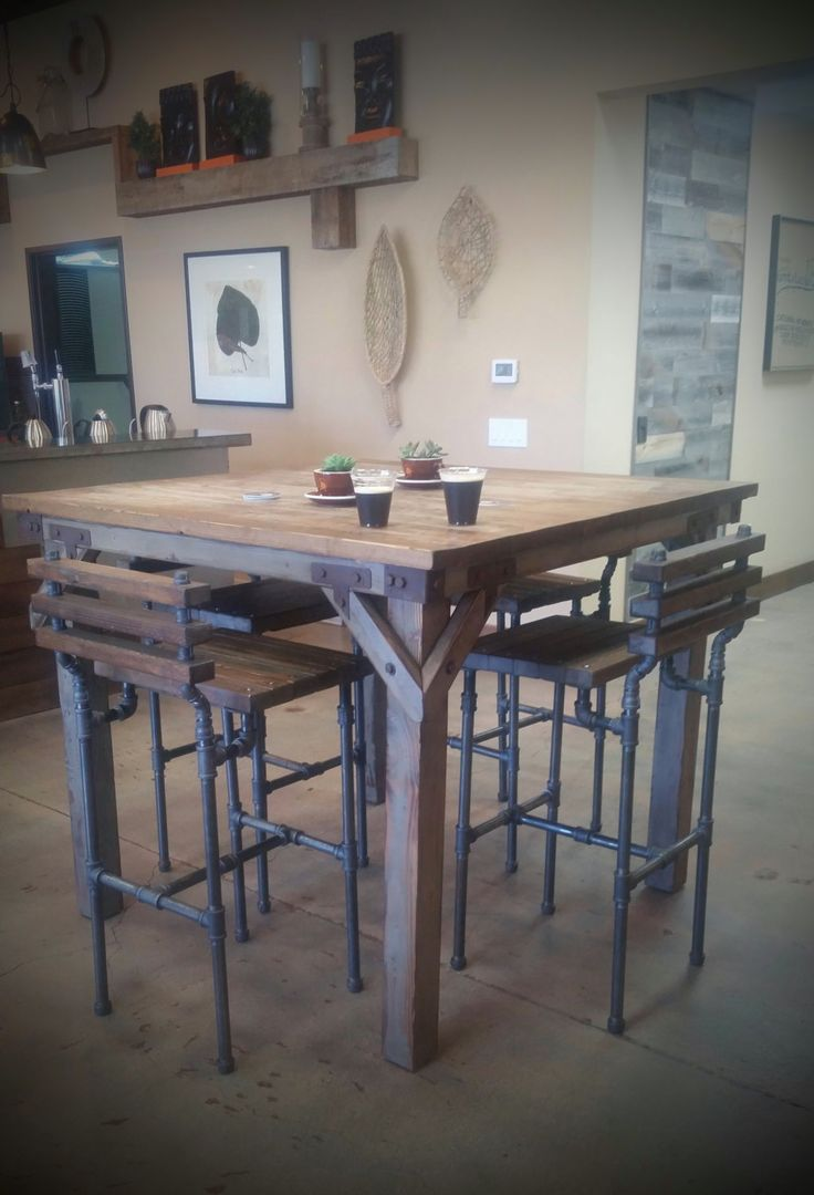 Our Bodhi Pub Table Is Handmade And Features An Artistic