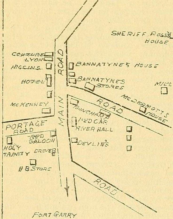Map of Winnipeg in 1869