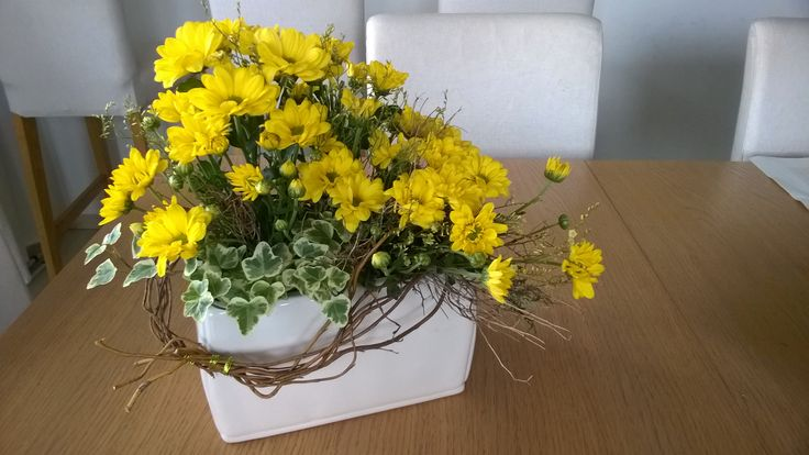 Jarni dekorace chryzantémy