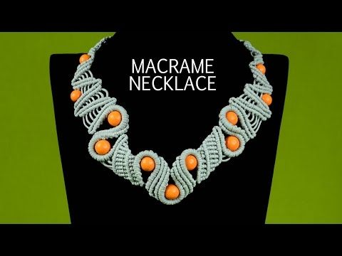 Snaky Macramé Necklace Tutorial - YouTube