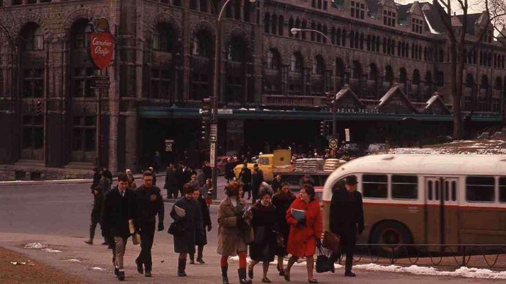 La gare Windsor, Mars 1964 - Archives de la Ville de Montréal.