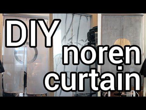 DIY: Easy Noren Curtains - YouTube