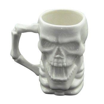 Новое поступление ZAKA творческий белый скелет керамическая завтрак кружки странные специальный кружки хэллоуин подарки офис стаканчики декоративные чашки