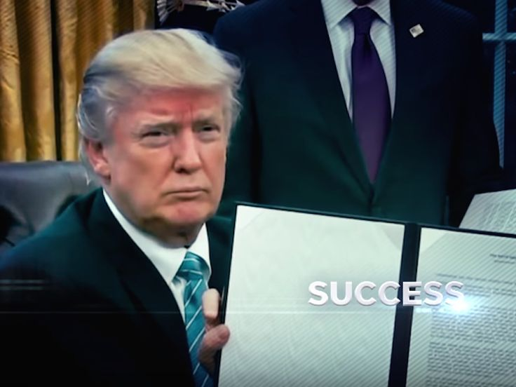Trump's campaign is launching a $1.5 million run of TV ads touting his first 100 days