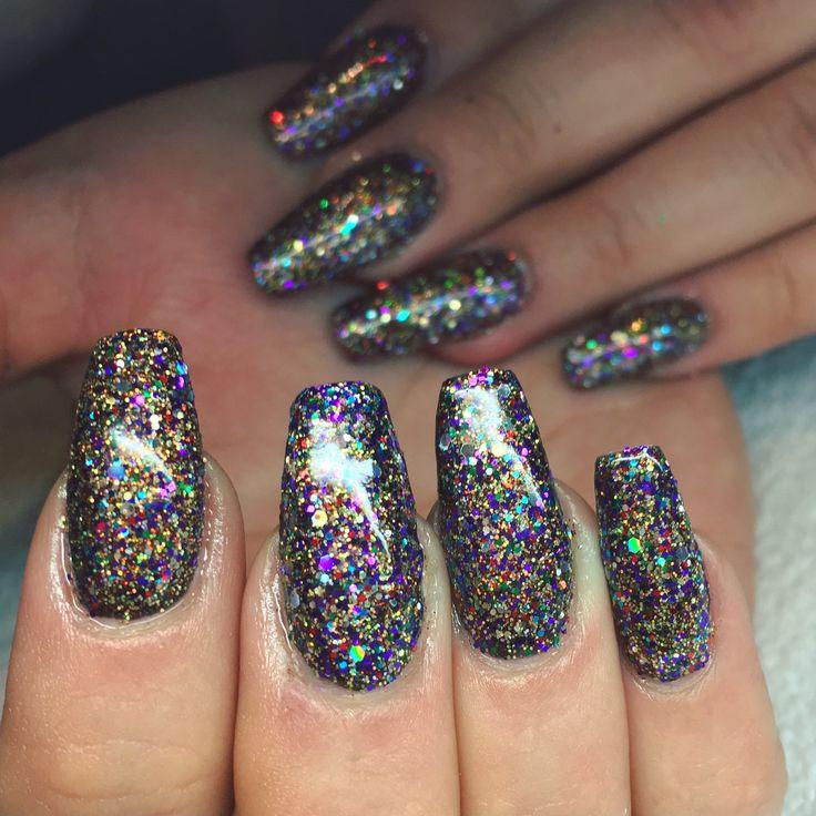 CND Shellac Lecente MultiGlitz Starlet Glitter Nails