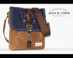 Waxed Canvas vertical Messenger bag  handmade от AlexMLynch