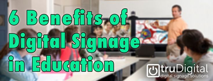 6 Benefits Of Digital Signage In Education  How Digital Signage Can Improve Education Today  For years the idea of using digital signs has been reserved for marketing and at a push IT and telecoms. However digital signage is a universal system; one that can provide a huge amount of assistance in many industries. In one industry in particular though companies like truDigital have been able to make major headway in the development and application of digital signage; education.  How though can…
