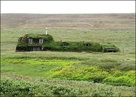 iceland grass roofed house