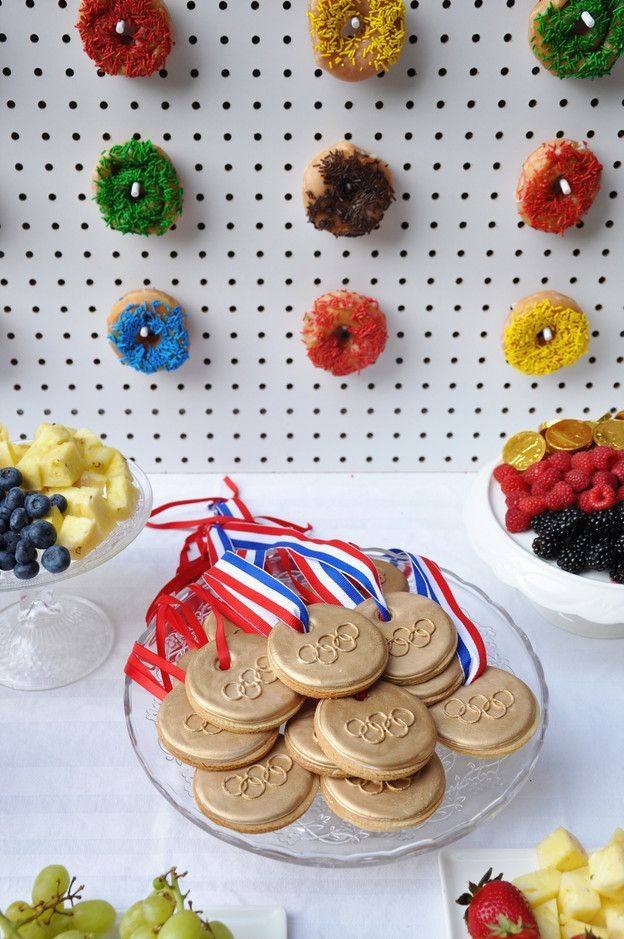 Biscuits au sucre médaille jeux olympique - Olympic game medal icing sugar cookie Johanie Creative