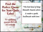 Quilt Label Sayings and Quotes for All Occasions – Michelle Lambour