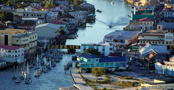Belize City Aerial View