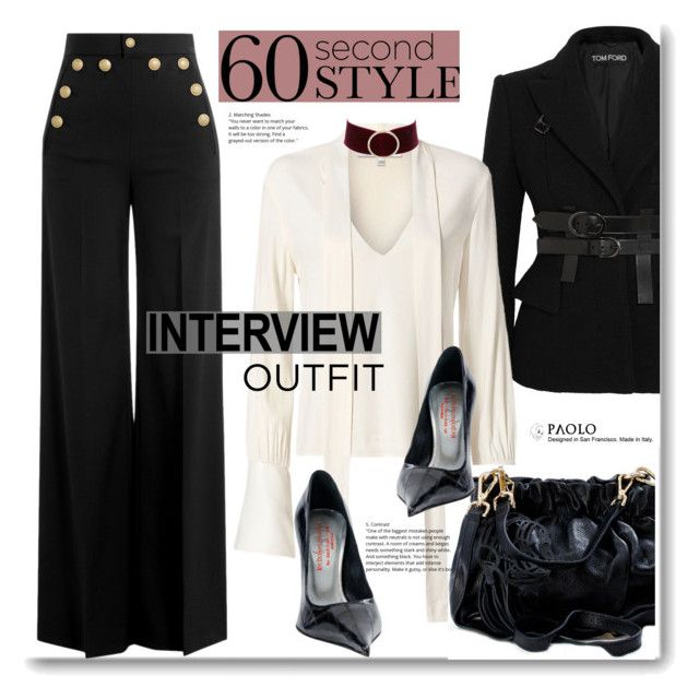"""""""Job Interview and PaoloShoes"""" by paoloshoes ❤ liked on Polyvore featuring Tom Ford, Alexis, RED Valentino, Charlotte Russe, jobinterview and 60secondstyle"""