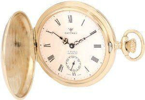 Catorex Men's 171.6.1645.410 Les Breuleux 18k Etched Brass White Textured Dial Pocket Watch Catorex. $933.47