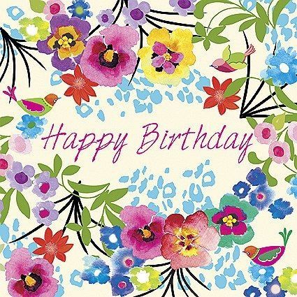 Happy birthday floral More