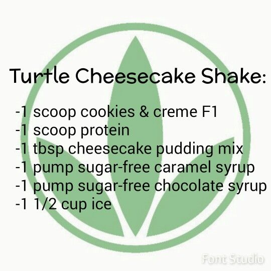 Turtle cheesecake Herbalife
