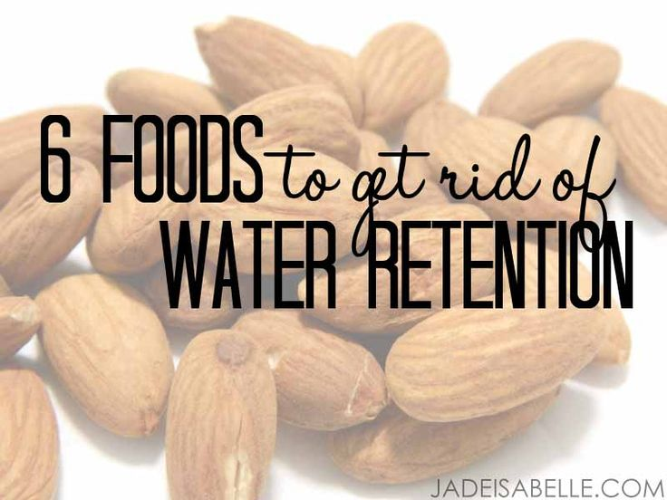 Happy Saturday, everyone! :) I think the ladies will love today's topic, because we're talking about 6 foods to get rid of water retention