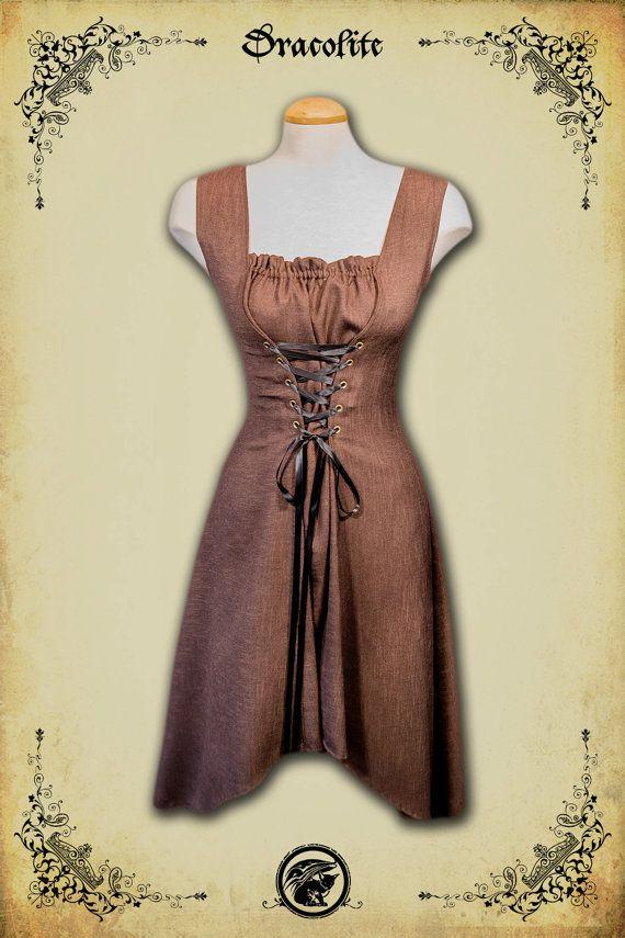 Abbigliamento medievale di Charlotte Dress - Steampunk breve vestito per LARP, costume victorian e cosplay
