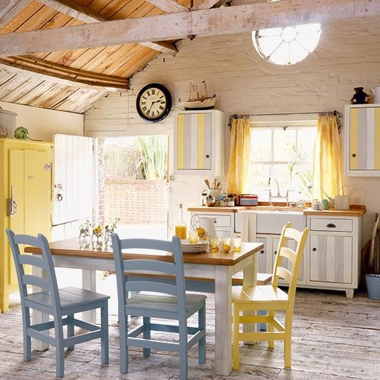 Pale Yellow Country Kitchen: 74 Best Yellow And Grey Images On Pinterest