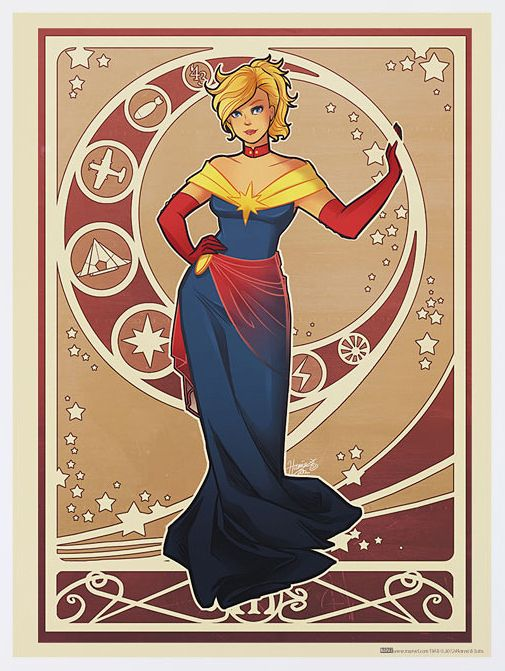 Captain Marvel: | Marvel Heroines In Art Nouveau Gowns Never Looked SoStylish