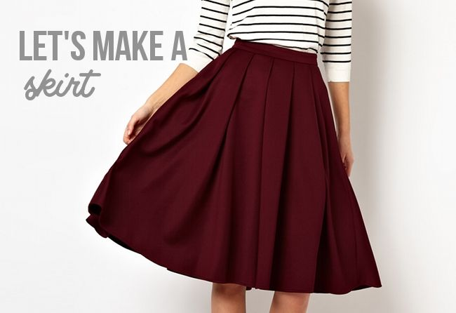 step by step blog on how to make a skirt!