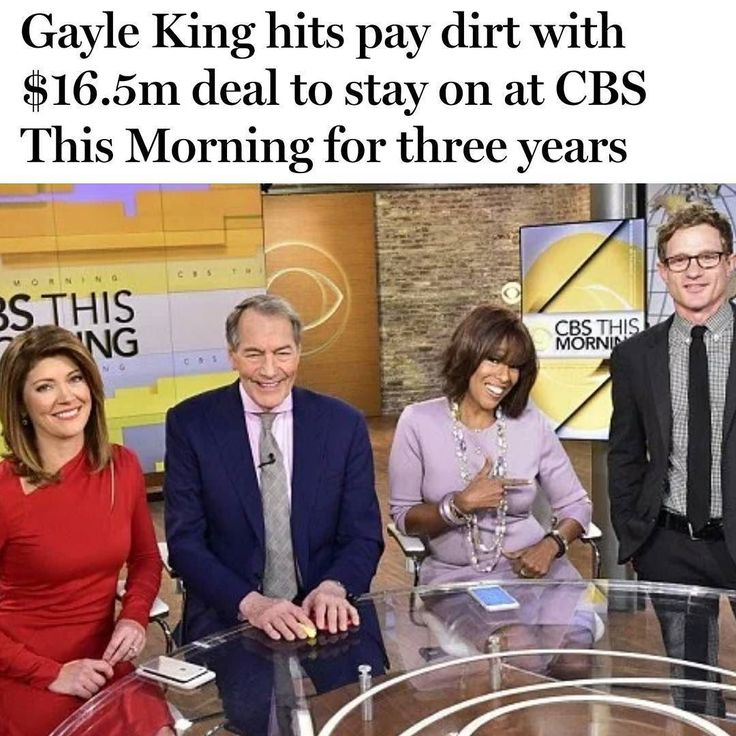 "Oprahs BFF #GayleKing is sitting pretty for at least the next three years!  The news anchor has been contracted to stay at the CBS' This Morning show. Sources say Gayle has been pulling ratings enough that the show has decided to lock the news in a three-year tight contract so the show has some ""celeb"" substance."