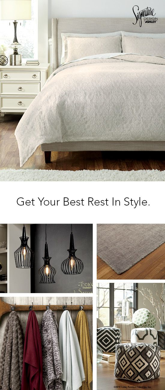 Get Your Best Rest In Style   Bedroom Furniture And Accessories    AshleyFurniture   #AshleyFurniture