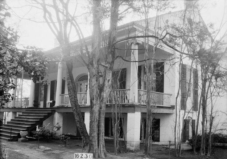 Umbria Plantation, aka Samuel Pickens Plantation built 1833 near Sawyerville, AL. Destroyed by fire in 1971.