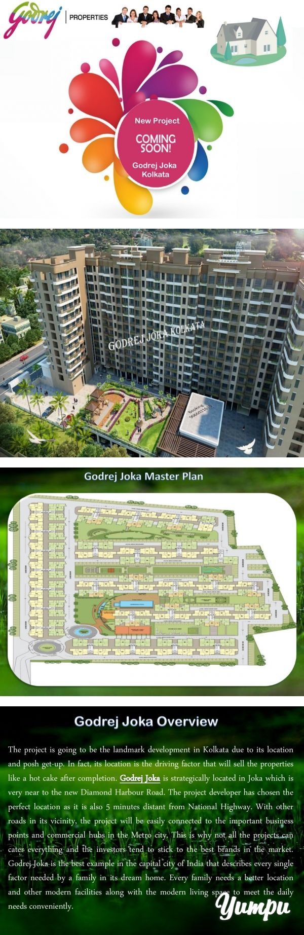 Godrej Joka - Residential 3 BHK Flat in Kolkata - Magazine with 10 pages: Godrej developer developed new luxurious property Godrej Joka under the supervision of expert team along with civil engineers, manufacturing zone, co-workers contractors and take permission by the government body.According to this group, they mainly focus on creative ideas and modern thoughts to build their luxurious residential apartment in the silicon valley of India.For more Detail Information Godrej Joka Visit…
