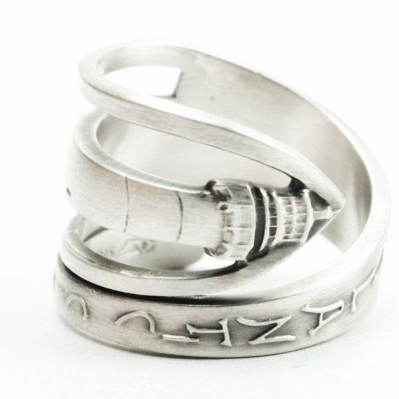 Lighthouse Jewelry Nautical Ring Sterling Silver Spoon Ring Atlantic City Ring Nautical Gif Sterling Silver Spoon Ring Nautical Ring Sterling Silver Spoons