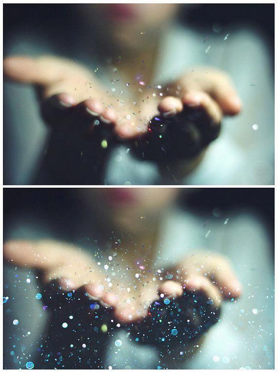 Blowing Glitter Photoshop Overlays Confetti Photo Layer